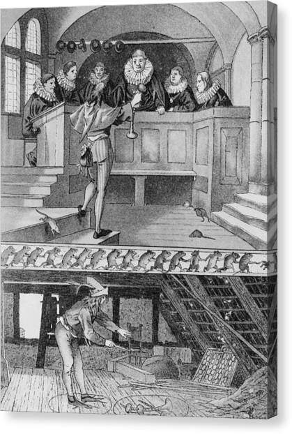 Pied Piper Of Hamelin Canvas Print by Hulton Archive