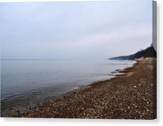 Pier Cove With Stoney Beach 1.0 Canvas Print