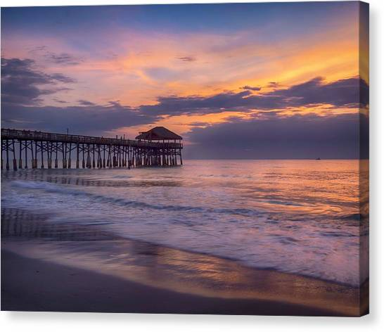 Pier Greeting Canvas Print