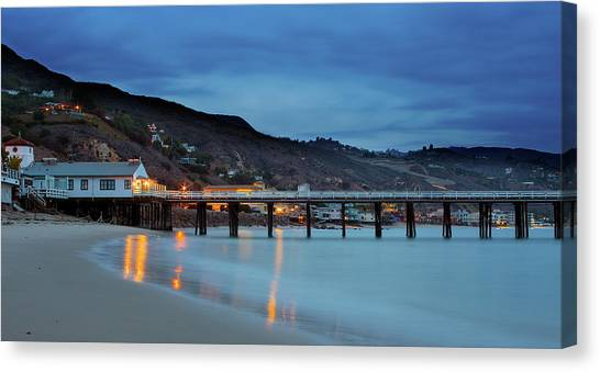 Pier House Malibu Canvas Print