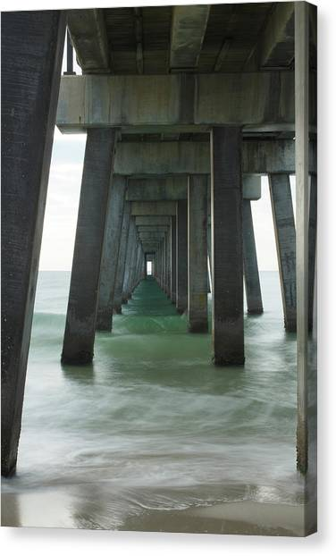 Pier Roll Tide Canvas Print