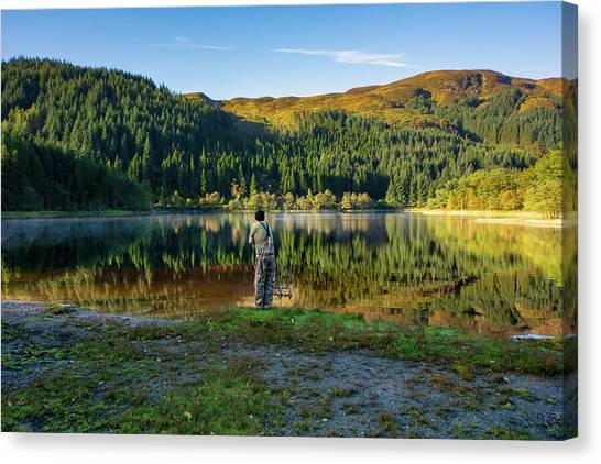 Angling Canvas Print - Pike Fisherman by Smart Aviation