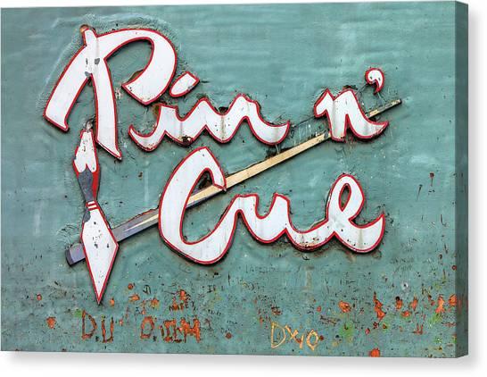 Bowling Alley Canvas Print - Pin N' Cue by Todd Klassy