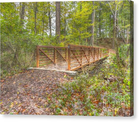Pine Quarry Park Bridge Canvas Print