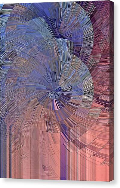 Pink, Blue And Purple Canvas Print
