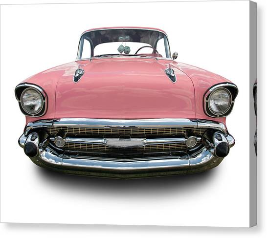 Pink Chevrolet Bel Air 1957 Canvas Print