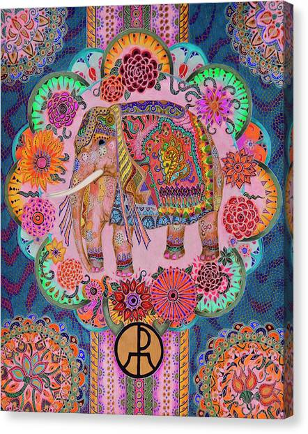 Pink Elephant Canvas Print