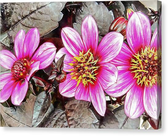 Pink Floral Glory Canvas Print