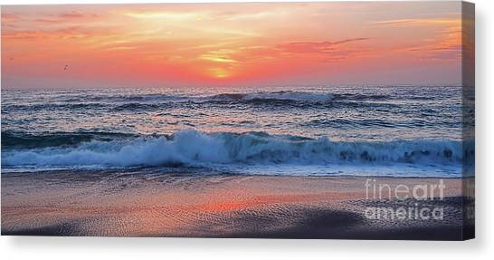 Pink Sunrise Panorama Canvas Print