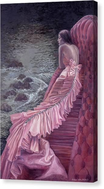 Pink Taffeta Canvas Print by Barbara Tyler Ahlfield