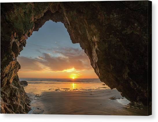 Pismo Caves Sunset Canvas Print