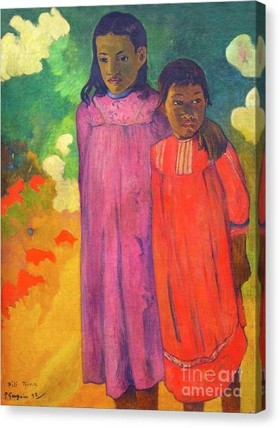 State Hermitage Canvas Print - Piti Teina, Two Sisters by Peter Barritt