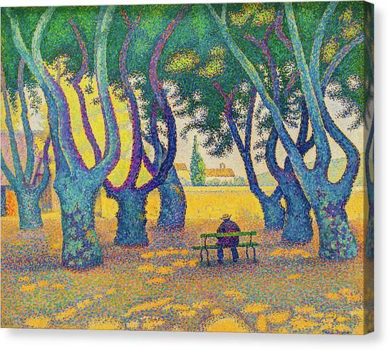 Signac Canvas Print - Place Des Lices, St. Tropez - Digital Remastered Edition by Paul Signac