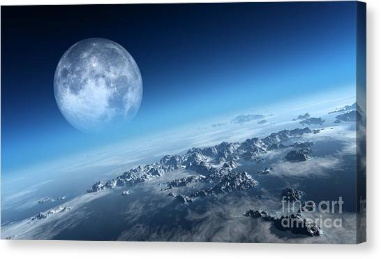 Atmosphere Canvas Print - Planet Earth Icy Ocean And Rocky by Johan Swanepoel