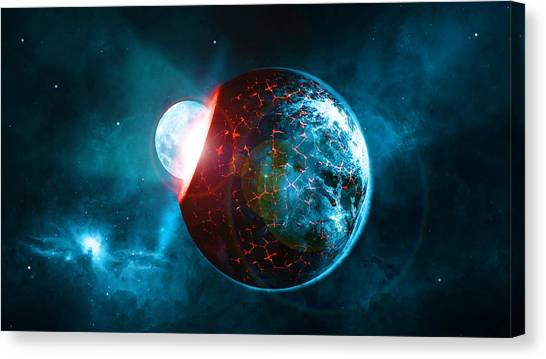 Celestial Globe Canvas Print - Planet Impact by ArtMarketJapan