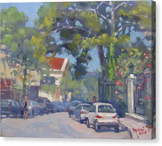 Athens Canvas Print - Plateia Kefalari Kifissia Athens by Ylli Haruni
