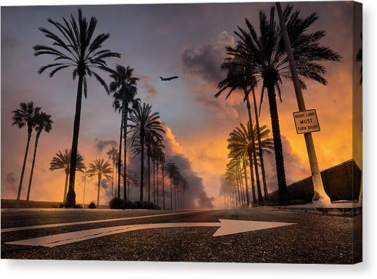 Canvas Print featuring the photograph Playa Vista by John Rodrigues