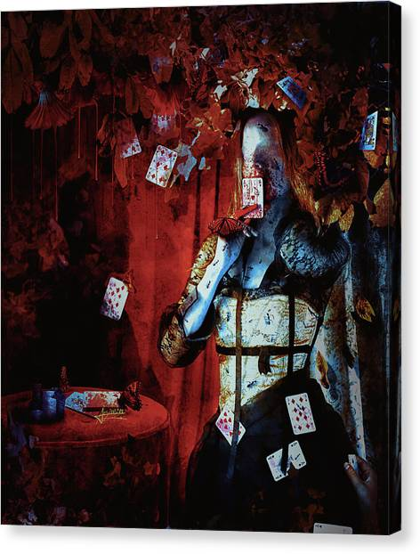 Gothic Art Canvas Print - Player by Mario Sanchez Nevado