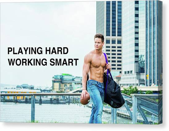 Playing Hard, Working Smart Canvas Print