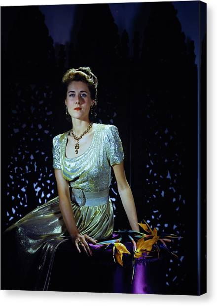 Playwright Clare Boothe Luce Canvas Print by Horst P. Horst