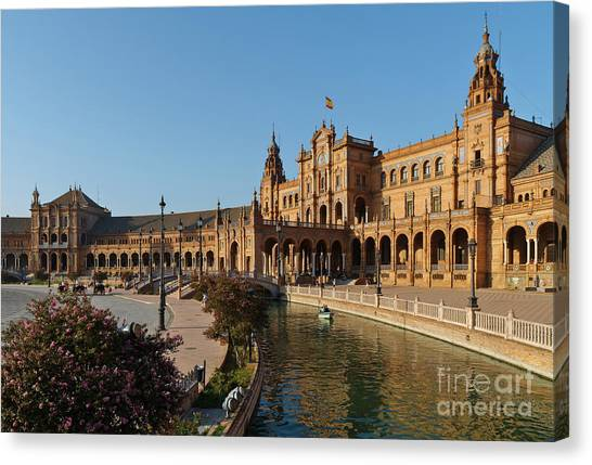 Plaza De Espana Bridge View Canvas Print