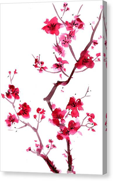 Plum Blossom Painting Canvas Print