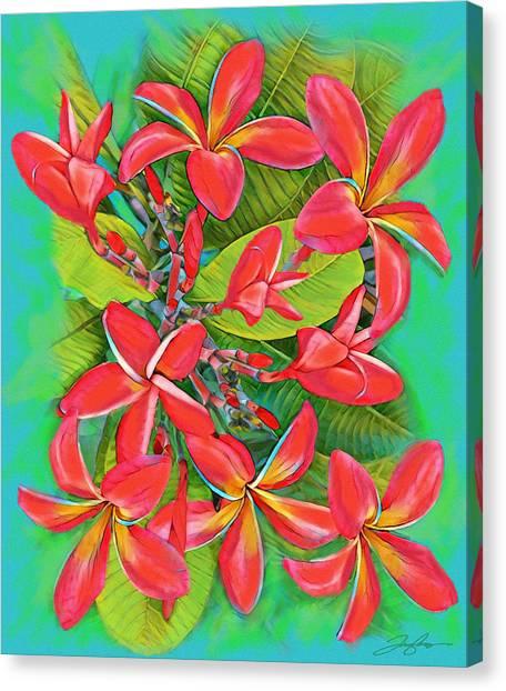 Plumeria Sunburst Canvas Print