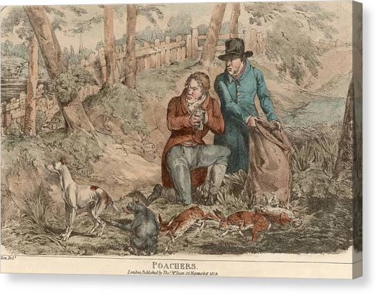 Poaching Canvas Print by Hulton Archive