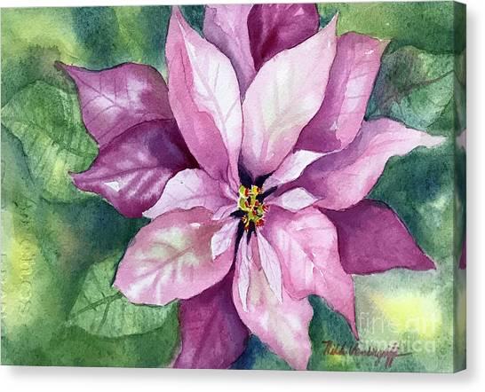 Poinsettia Canvas Print