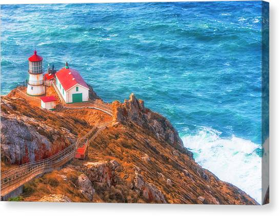 Point Reyes Lighthouse Canvas Print by Fernando Margolles