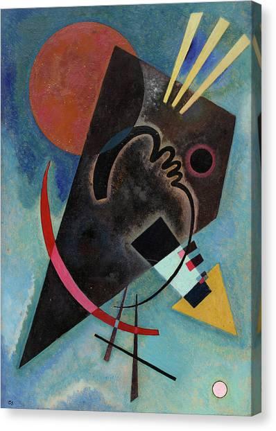 Suprematism Canvas Print - Pointed And Round - Spitz Und Rund by Wassily Kandinsky