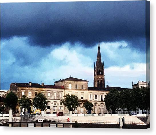 Canvas Print featuring the photograph Poking The Storm by Rick Locke