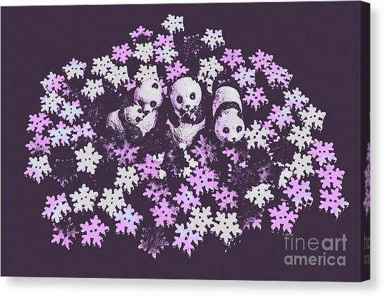 Polar Bears Canvas Print - Polar Pop Art by Jorgo Photography - Wall Art Gallery