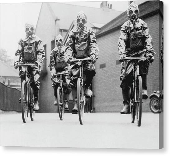 Protective Clothing Canvas Print - Police Protection by Fpg