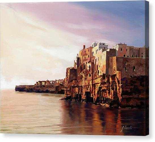 Vacations Canvas Print - Polignano by Guido Borelli
