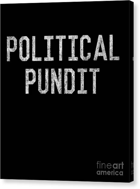 Canvas Print featuring the digital art Political Pundit Vintage by Flippin Sweet Gear