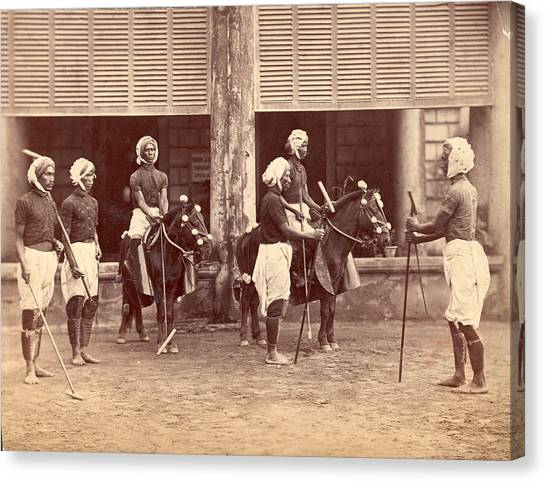 Polo In India Canvas Print by Henry Guttmann Collection