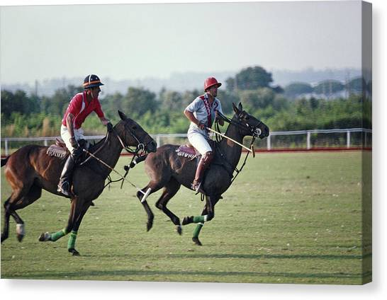 Polo In Italy Canvas Print