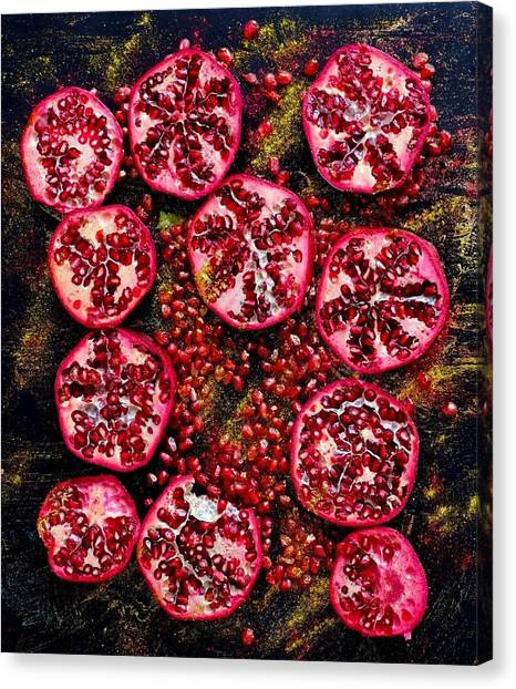 Pomegranate New Year Canvas Print
