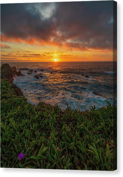 Pomo Bluffs Sunset - 2 Canvas Print