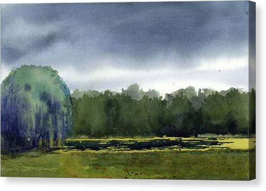 Pond At Taliesin Canvas Print