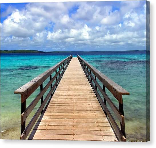 Pontoon New Caledonia Canvas Print by Vincent Jary
