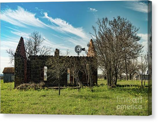 Pontotoc House Ruins Canvas Print by Elijah Knight