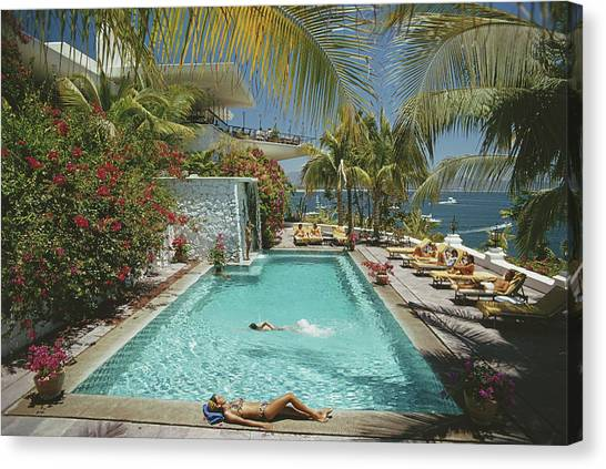 Pool At Las Hadas Canvas Print
