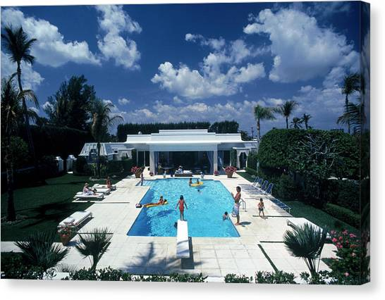 Pool In Palm Beach Canvas Print