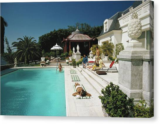 Poolside Chez Holder Canvas Print