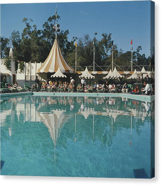 Poolside Reflections Canvas Print by Slim Aarons