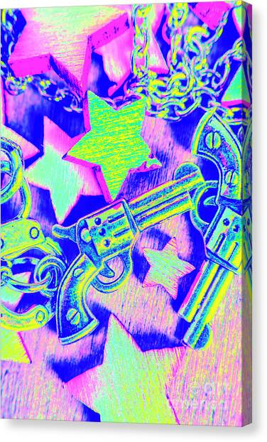 Law Enforcement Canvas Print - Pop Art Police by Jorgo Photography - Wall Art Gallery