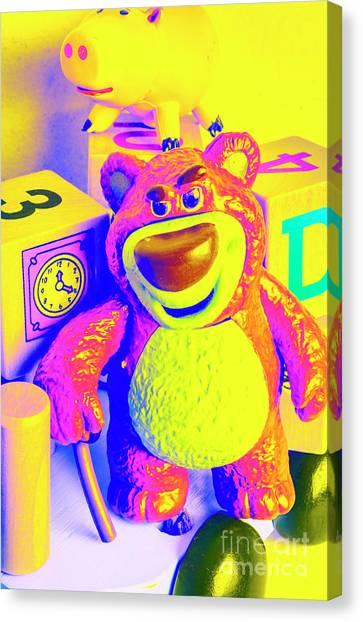 Teddy Bears Canvas Print - Pop Art Preschool  by Jorgo Photography - Wall Art Gallery