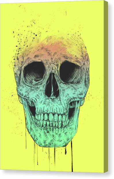 Skulls Canvas Print - Pop Art Skull by Balazs Solti